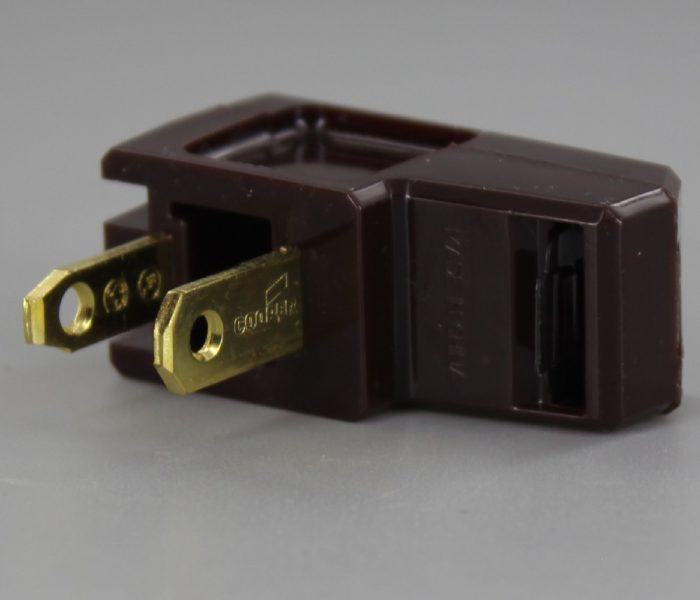 BROWN POLARIZED EASY LAMP PLUG FOR 16/2 SPT-2 AND 18/2 SPT-2 WIRE